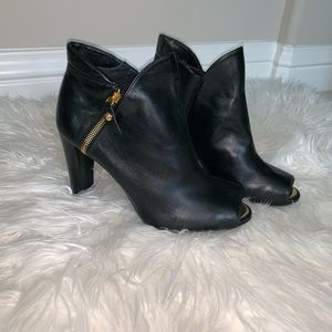 Open toe Stuart Weitzman leather booties